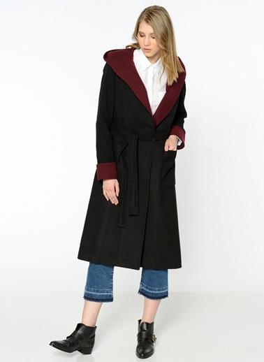 Kapüşonlu Uzun Palto-Dewberry